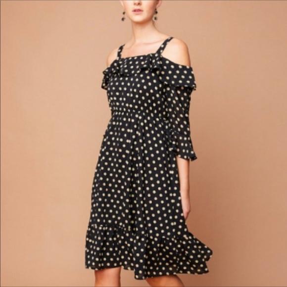 Pink Haley Dresses & Skirts - Beautiful Classic Design Cold Shoulder Midi Dress